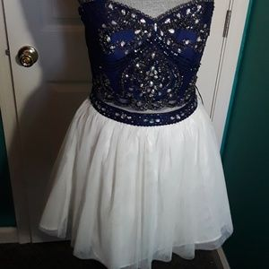 Strapless top with skirt